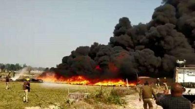 Farmers protest against CM Yogi's rule, fire on Unnao's godown