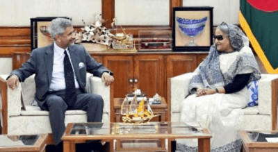 Sheikh Hasina meets Foreign Minister Jaishankar, talks on bilateral issues