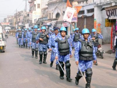 Ayodhya again transformed into a camp, security forces at every corner, city on alert