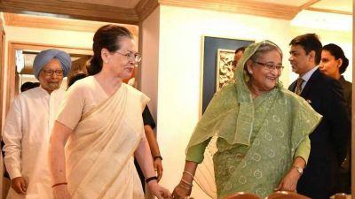 सोनिया और मनमोहन से मिलीं बांग्लादेशी पीएम शेख हसीना, हुई द्विपक्षीय वार्ता