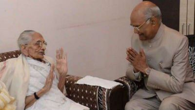 President Kovind met PM Modi's mother Hiraben, took blessings
