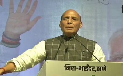 Rajnath accuses Congress of internationalizing Kashmir issue