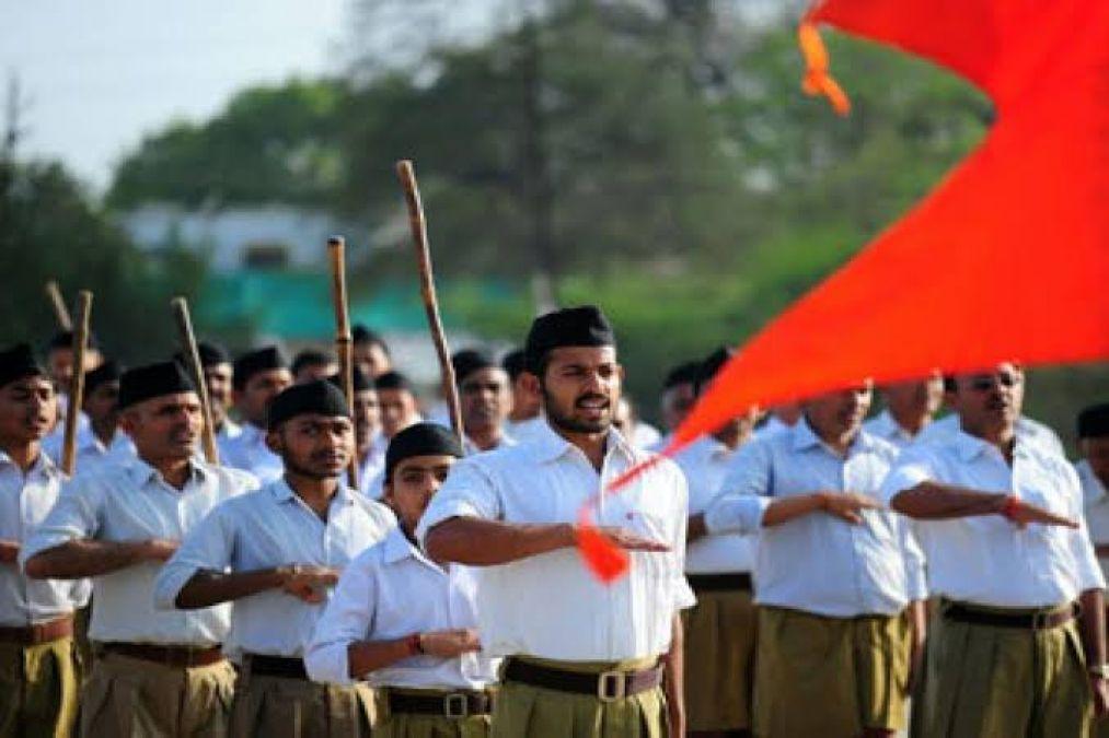 आरएसएस ने कांग्रेस को दी अपने राज्य में 'Nyay' लागू करने की चुनौती