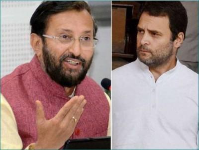 Javadekar takes dig at Rahul Gandhi, says,