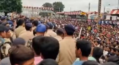सासाराम में छात्रों ने किया जबरदस्त विरोध प्रदर्शन, भारी नुकसान की आशंका