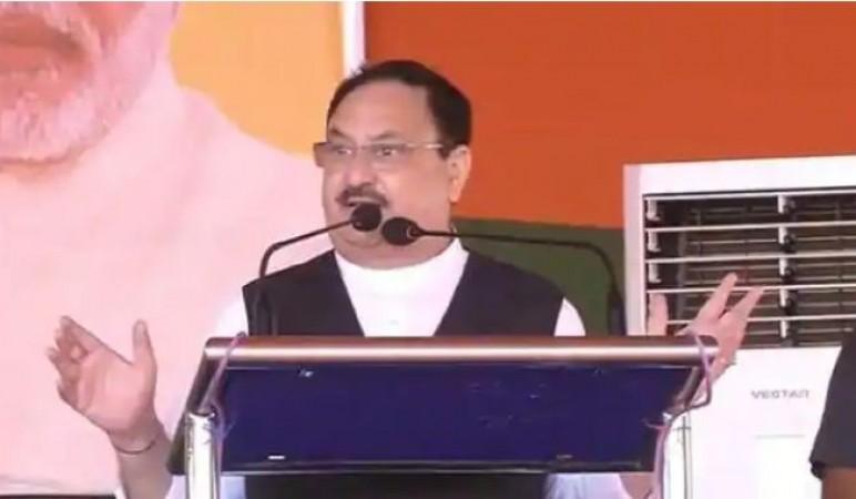 जेपी नड्डा ने राजद को बताया 'अराजक' और कांग्रेस को 'देश-विरोधी', कहा- ये है महागठबंधन