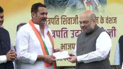 Sharad Pawar gets a big shock, NCP MP Udayanraje joins BJP