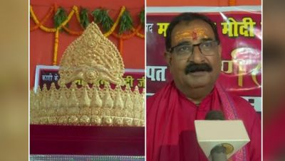 PM Modi's fan offered 1.25 kg Gold crown in the temple on occasion of Modi's birthday