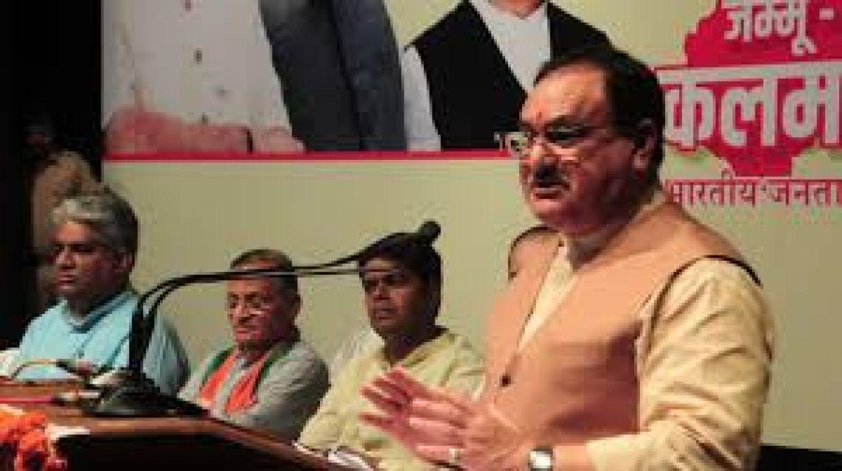 जेपी नड्डा ने जम्मू कश्मीर को मिले विशेष दर्जे को बड़ा झूठ बताते हुए दिया यह बयान