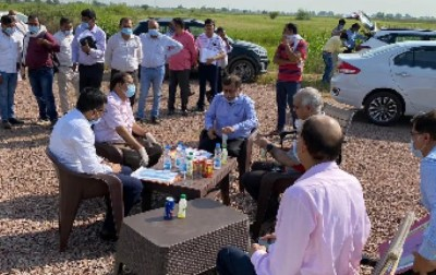 Preparation of 'Film City' intensifies in UP, Avnish Awasthi inspects land in Noida