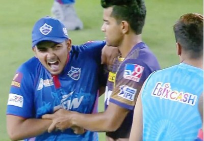IPL 2021: Bowler 'Shivam' suppresses Prithvi Shaw's throat after 6 fours in an over! Video Viral