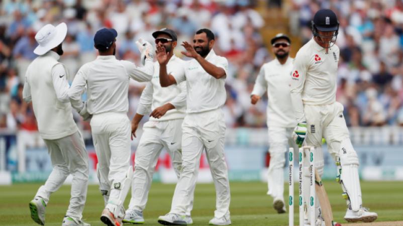 भारत बनाम इंग्लैंड टेस्ट: भारत की मैच में वापसी, शमी ने झटके दो विकेट