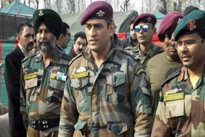 Mahendra Singh Dhoni returns after completing his duty in the Army