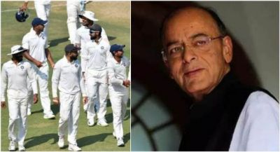 Indian team paid tribute to Arun Jaitley