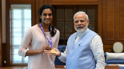 PV Sindhu handed over the gold medal to Modi, PM Pasies 'India's pride'
