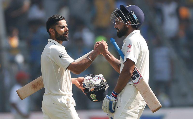 दिल्ली टेस्ट : विराट-विजय की जोड़ी ने जड़ा शतक