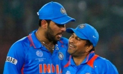 Happily retired cricketers Sachin Tendulkar, Yuvraj Singh enjoy playing golf