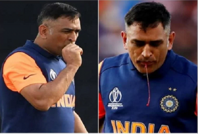 Dhoni bleeds from the mouth; strange video viral!