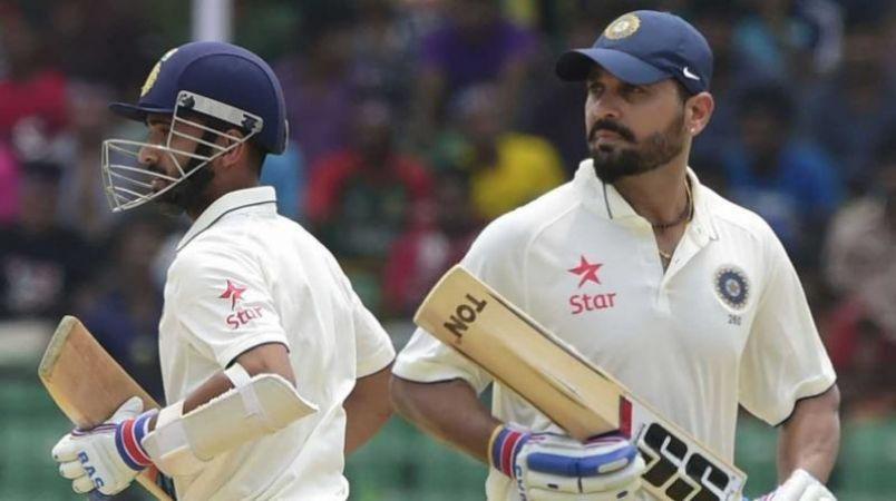 टेस्ट से पहले इंग्लैंड के ख़िलाफ़ खेलेंगे विजय और रहाणे