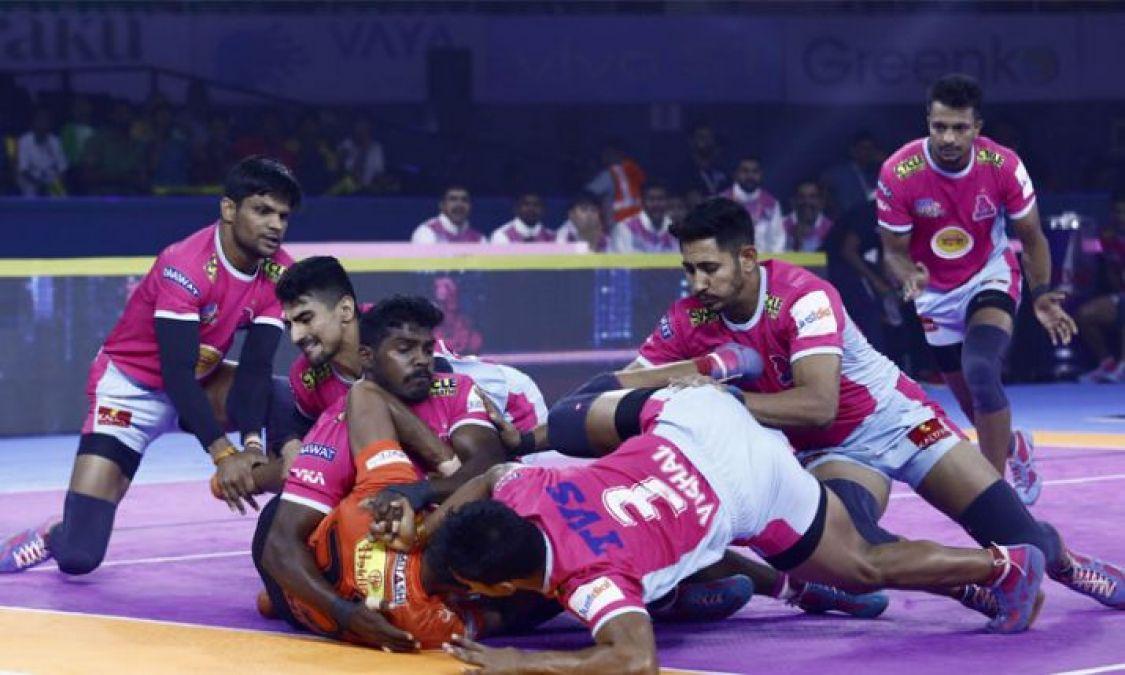 Pro Kabaddi League: Jaipur Pink Panthers defeats U-Mumba by 42-23