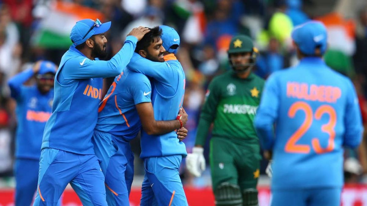 IND VS PAK: Once again India beat Pakistan in world cup, win by 89