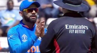 Kohli folds hands in front of umpire, got trolled on Twitter
