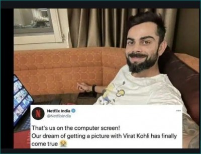 Netflix India Fulfill Dream Of Featuring In A Picture With Virat Kohli
