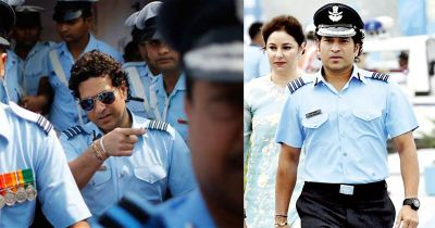 Group Captain Sachin Tendulkar joins Air Force Day celebrations, arrives at Hindon Airbase