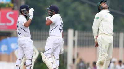 Ind vs SA: India scored 357 for four wickets till lunch, Rohit Sharma unbeaten on 199 runs