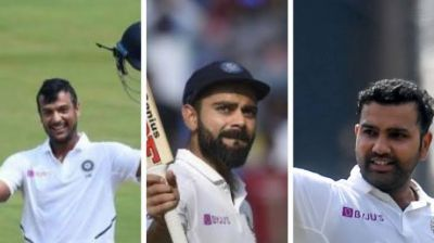 Ind vs SA: Rohit, Virat and Mayank did this amazing feat against South Africa for the first time