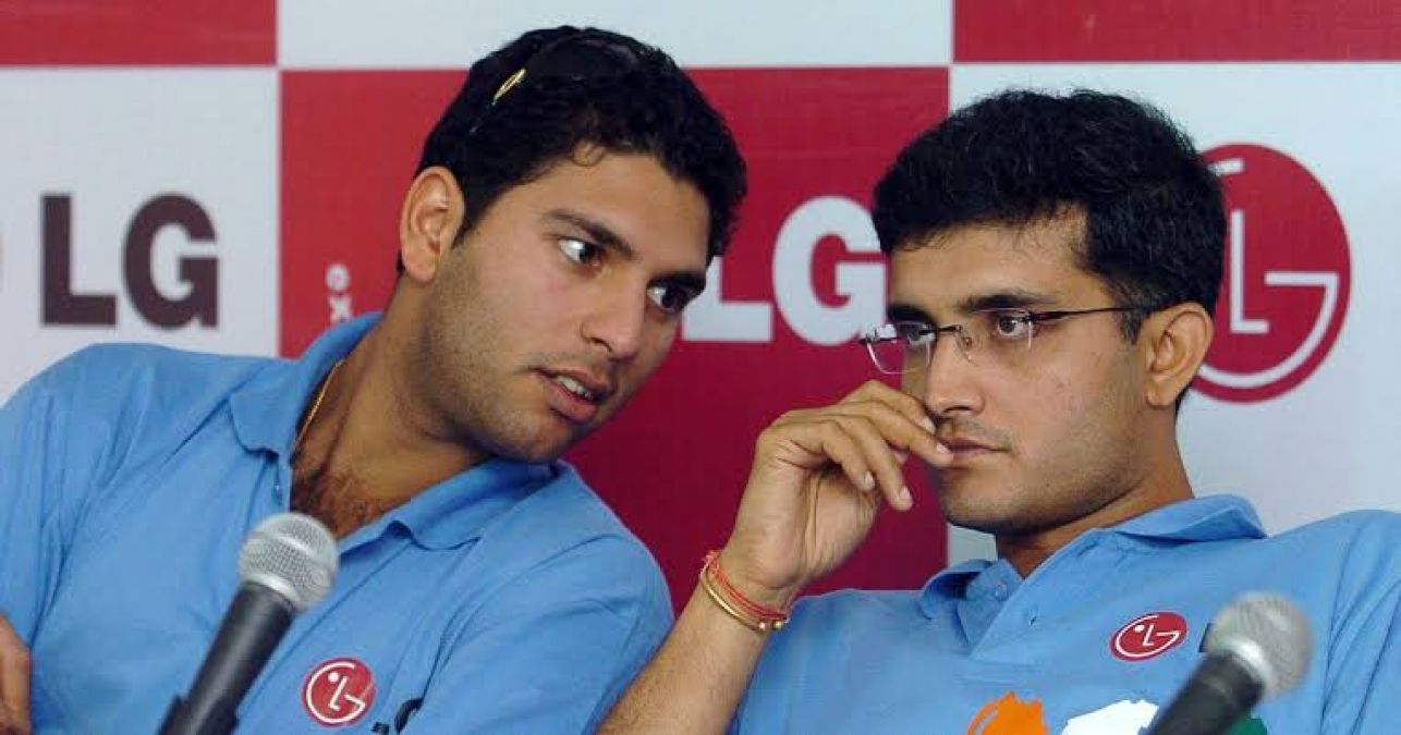 Yuvi congratulated Sourav Ganguly and took a dig at Team India, said this