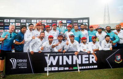 अफगानिस्तान ने बांग्लादेश के खिलाफ दर्ज की  ऐतिहासिक जीत