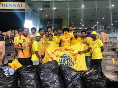 Suresh Raina hails CSK fans for cleaning stands at Chepauk after match
