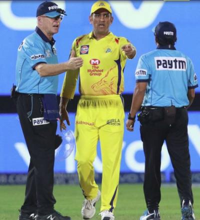 MS Dhoni reprimanded for confrontation with umpires, fined 50 percent of match fees