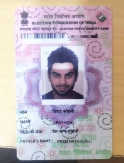 Virat Kohli shares his voter ID picture for this reason