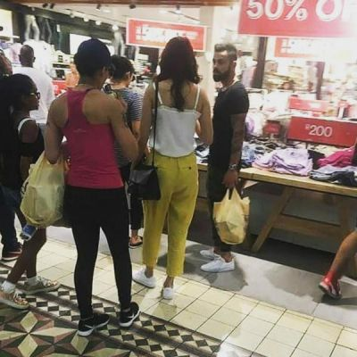Take a look at the picture of Virushka shopping in South Africa
