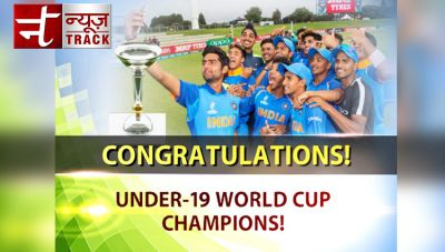 India celebrates ICC World Cup under-19 victory