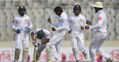 Sri Lanka beats Bangladesh by 215 runs