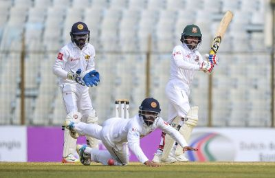 Bangladesh lost three wickets in 339-run chase