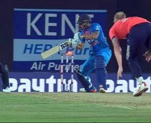 Manish Pandey was blessed with miracle in 2nd T20I; Stokes's ball didn't move the bail