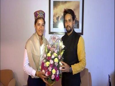 Former president of BCCI  Anurag Thakur met the Indian wicket-keeper batsman Sushma Verma