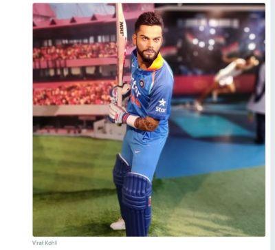Wax statue of Indian cricket team captain Virat Kohli unveiled in Delhi