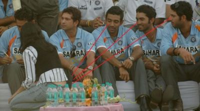 Funny pictures of Indian cricket team players
