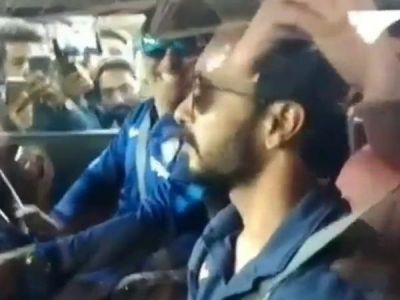 Viral Video: Rishabh Pant, Kedar Jadhav  enjoys MS Dhoni's Hummer ride