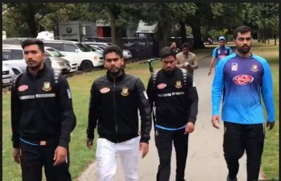 Bangladesh's Cricket team escapes safely after a shooting at a mosque in central Christchurch in New Zealand