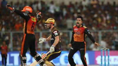 IPL 2018 : Rashid Khan bat-ball show takes SRH in final with 14-run win over Kolkatta