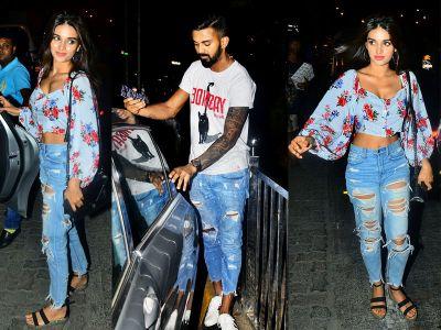 KL Rahul spots with 'Munna Michael' fame Nidhhi Agerwal