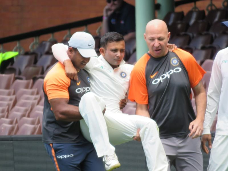 Prithvi Shaw suffers ankle injury scare ahead of four-match Test series against Australia