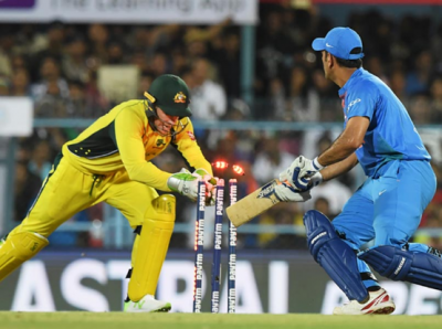 MS Dhoni was get stumped for the first time in T-20 International.