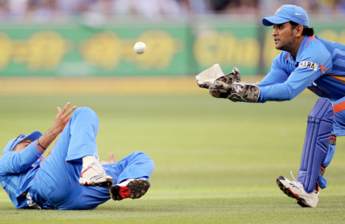 MS Dhoni caught 200 catches behind the wicket in Indian soil.